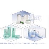 150ml空気のないポンプガラス装飾的な瓶の容器及びびん