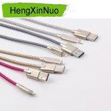 Câble de caractéristiques tressé d'USB de caractéristiques de câble de poissons d'échelle du modèle en alliage de zinc USB d'armure