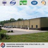 Almacén industrial/almacenaje del marco de acero de la construcción vertido para África