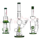 Factory Wholesale Mixed Color New Hitman Thick and Sturdy Glass Glass Oil Rig Water Pipe with Male Joint