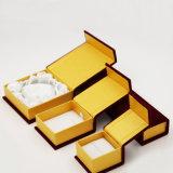Flocking коробка ювелирных изделий плюша Velet ткани сатинировки стаи (J46-E)