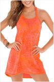 Umsponnenes Racerback Burnout-Strand-Kleid