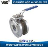 Válvula de bola con brida de tipo oblea con almohadilla de montaje ISO5211