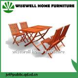conjunto de los muebles del patio de madera sólida 5PC