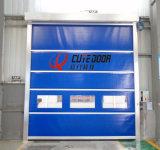 سرعة كهربائيّة عادية صناعيّة داخليّة يلفّ بلاستيكيّة فوق أبواب