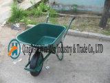 庭の手押し車Wb6414のための1つの車輪のツールが付いている手トラック