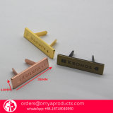 Letras pequenas feitas sob encomenda para sacos, logotipos do metal da placa de identificação do logotipo do metal da qualidade