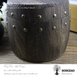 Caixa de armazenamento de madeira do café da cor do vintage de Hongdao