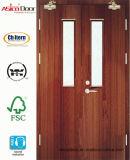 Puerta cortafuego de madera de la puerta exterior de la puerta de la puerta de la madera de madera sólida Gran Bretaña BS 476 certificada