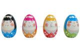 초콜렛 포장을%s 선전용 앞잡이 부활절 달걀 모양 주석 상자