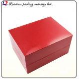 Caixa de armazenamento de couro luxuosa do indicador da embalagem do relógio (Sy01)