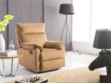Sofa de cuir véritable de salle de séjour (C774)