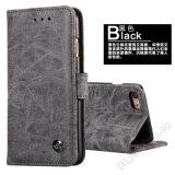 Случай бумажника Flip кожаный с магнитом для iPhone 7plus