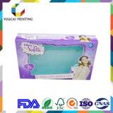 Rectángulo 100% de regalo cosmético del embalaje del papel del color de la alta calidad de la fábrica