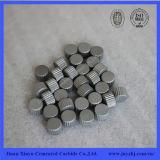 Botones con tapa llana Yg8/Yg11c del carburo cementado de la resistencia de desgaste