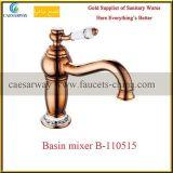 Faucet dourado da bacia do banheiro da torneira de água de Rosa