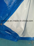 Couverture bleue/blanche de bâche de protection de PE