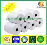 Rodillo del papel termal de la pulpa de madera para la atmósfera, papel del polvo de POS/Low