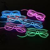 Rosafarbene LED-blinkende Partei-Gläser mit Firmenzeichen-Druck (6850)