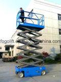 Het model Hydraulische Hand Elektrische Mobiele Platform van de Lift van de Schaar/de Gemotoriseerde Lift van de Schaar van het Werkende Platform met Ce