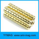 O ímã permanente da bobina dourada de NdFeB do anel