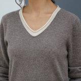 Chandail neuf de vente chaud de cachemire de femmes de modèle de mode, femmes de chandail de cachemire