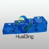 Caixas de armazenamento plásticas Foldable coloridas do vegetal e da fruta
