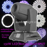 Color ilimitado Mixture 150W Spot LED Moving Head