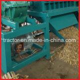 Máquina dobro do madeira dos eixos/a de bambu da jangada do triturador