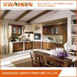 Gabinete de cocina de madera maciza de madera maciza americana clásica