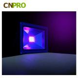 iluminación ULTRAVIOLETA impermeable ultravioleta del reflector 360nm 365n 390nm 405nm de 10W 20W 30W 50W 10W 150W 500W 200watt LED Blacklight