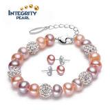 Neue perlen-Armband-Entwürfe des Ankunfts-Form-Perlen-Armband-8-9mm Frischwasser