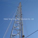 Mât d'antenne d'acier doux de Custommized Q235 d'usine et tour de transmission