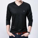 La longue plaine florale de collier de V-Collet de chemise de logo de Gk de marque neuve occasionnelle amincissent le T-shirt en bonne santé