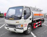 JAC 4X2 4000 litros a 5000 litros caminhão do distribuidor do tanque do transporte do petróleo