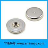 Strong Pull Force Threaded Flexible Cheap NdFeB Neodymium Pot Magnet / Cup