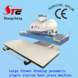 Format大きいAutomatic T-Shirt Heat Transfer Machine 50*120cm Pneumatic Drawing Heat Press Machine Single Station T Shirt Printing Transfer Machine StcQd08