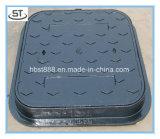 Coperchio di botola duttile del quadrato di fognatura D400 del ferro 600X600mm