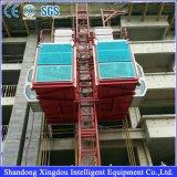 Elevador de elevación al aire libre del alzamiento del pasajero con los estantes y los piñones
