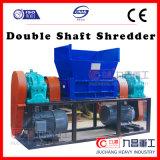 Plastic Verscheurende Machine van de Dubbele Ontvezelmachine van de Schacht met Hoogste Kwaliteit