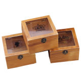 Деревянная коробка защитного прозрачного стекла коробки подарка, деревянная коробка упаковки