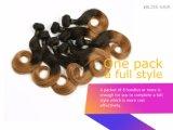 Zijdeachtig Recht Weefsel Haar van de Kleur van 8 Duim het Bruine Braziliaanse Maagdelijke