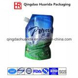 プラスチック液体の食品包装袋は口の袋を立てる