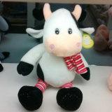 주문 농장 동물 견면 벨벳 장난감 자유로운 채워진 암소 장난감 패턴