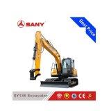 Песка землечерпалки Sany Sy135 13.5ton машина малого выкапывая
