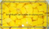 2016 pêssegos amarelos enlatados das metades dos pêssegos xarope doce