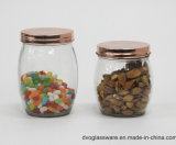 Glass Candy Jar with Glass Lid and Iron Clip