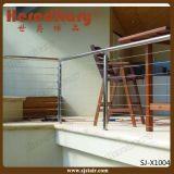 Balaustre del pasamano de la barandilla del acero inoxidable del cable que cerca con barandilla (SJ-X1001)