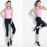 Pantalon de yoga en nylon Femmes Legging Fitness Women Tank Top