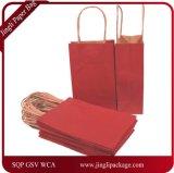 Bolsos de la maneta del regalo del papel de talla media, bolsa de papel que hace compras con la maneta Twisted